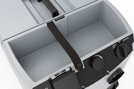 Practical storage box and blower function