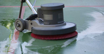 Floor cleaning, oiling and polishing
